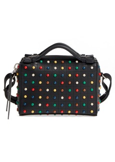 Tod's Micro Diodon Rainbow Studded Leather Bowler Bag