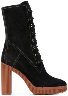 Tod's midi lace-up boots - Black