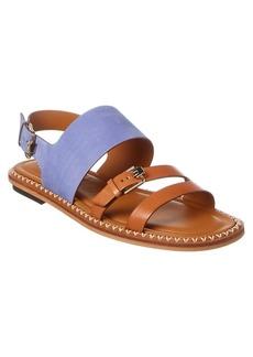 Tod's Nubuck & Leather Sandal