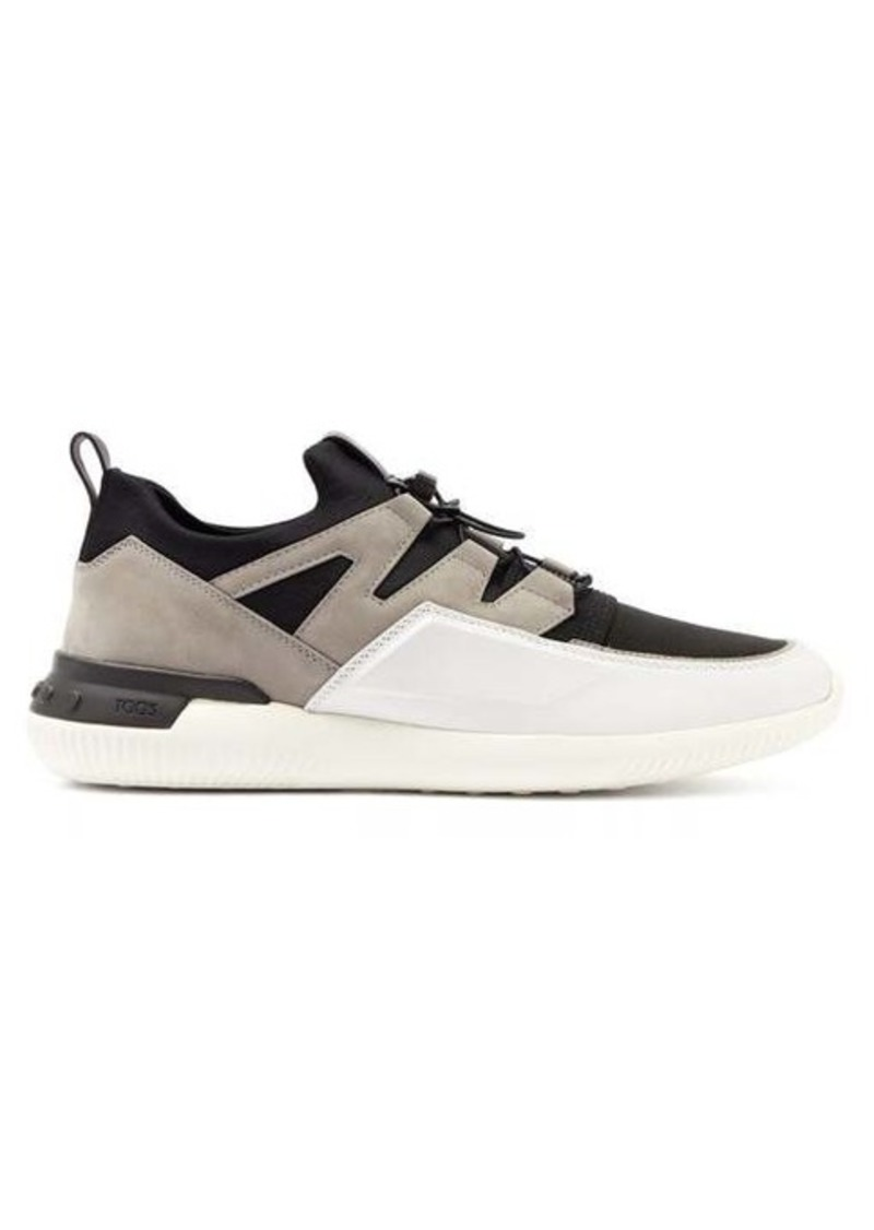 Tod's Nubuck-panelled drawstring technical trainers