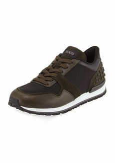 Tod's Men's Nylon & Leather Trainer Sneakers