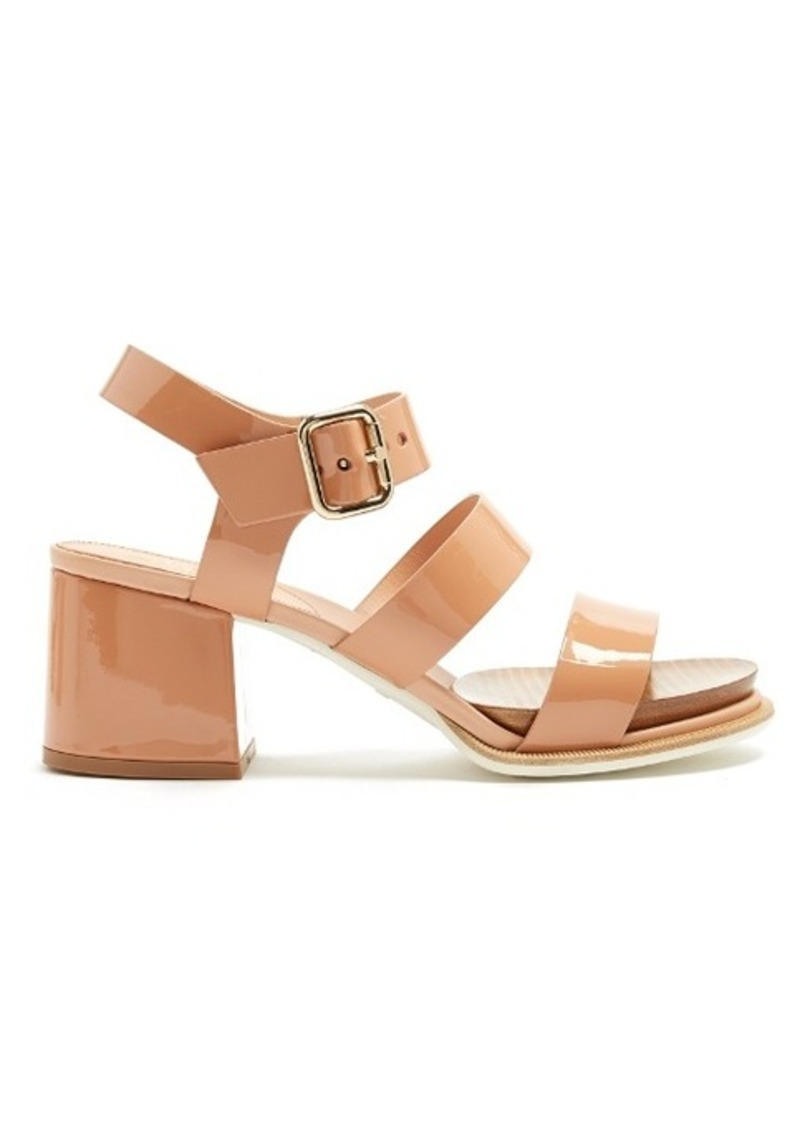 6df326637a1 Tod s Tod s Patent-leather block-heel sandals