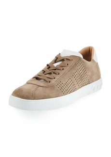 Tod's Men's Perforated Suede Low-Top Sneakers