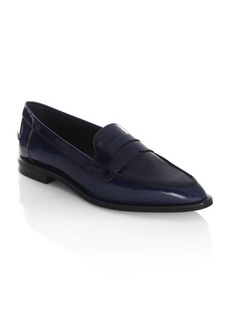 Point Toe Leather Loafers