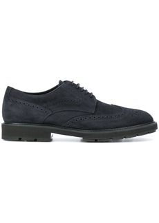 Tod's punch detail brogues - Blue