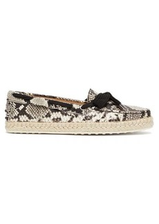 Tod's Python-effect leather espadrilles