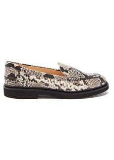 Tod's Python-effect leather loafers