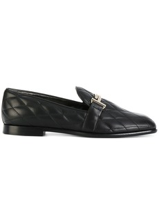 Tod's quilted Double T loafers - Black