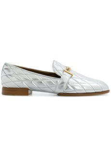 Tod's quilted loafers - Metallic