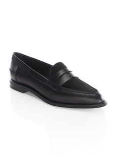 Tod's Calf Fur Point Toe Loafers