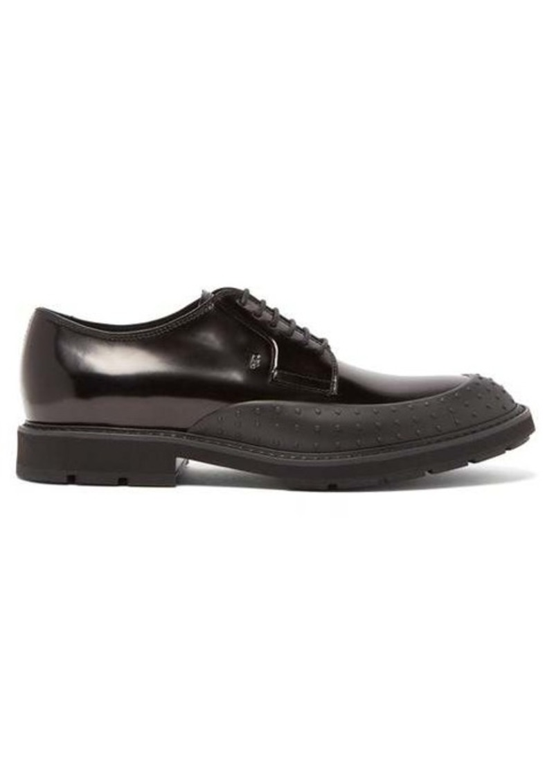 Tod's Rubber-panel leather derby shoes