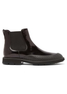 Tod's Rubber-sole leather Chelsea boots