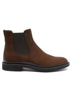 Tod's Rubber-sole suede Chelsea boots