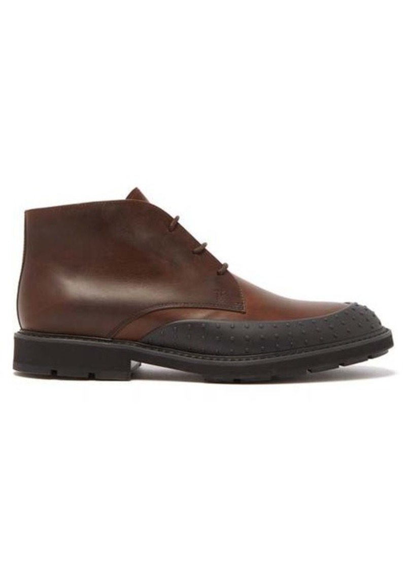 Tod's Rubber-toe cap leather ankle boots