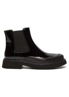 Tod's Rubber-toe patent-leather Chelsea boots