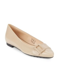Tod's Slip-On Leather Ballet Flats
