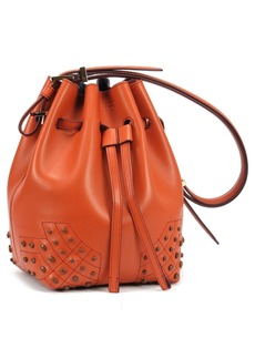 Tod's 'Small Wave' Calfskin Leather Bucket Bag