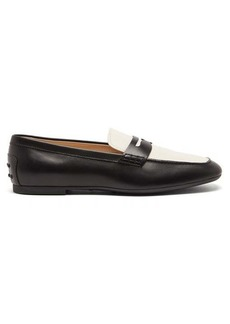 Tod's Square-toe leather loafers