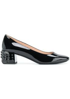 Tod's stud-detail block-heel pumps - Black