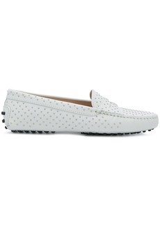 Tod's studded Gommino loafers - White