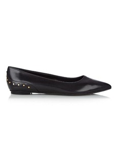 Tod's Studded leather point-toe flats