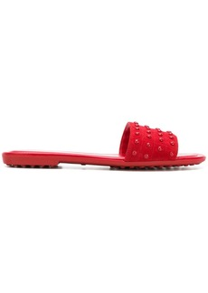 Tod's studded slides