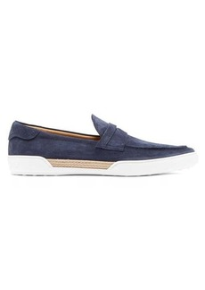 Tod's Suede espadrille penny loafers