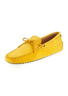Tod's Suede Flat Slip-On Moccasin