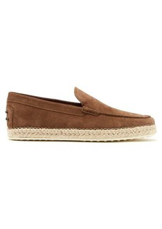 Tod's Suede moccasin espadrilles
