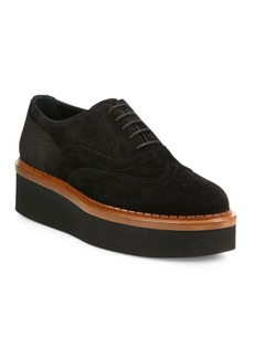Tod's Suede Wingtip Platform Oxfords