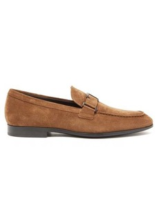 Tod's T-logo suede loafers