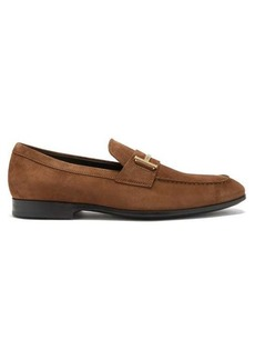 Tod's T-logo suede penny loafers