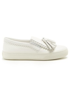 Tod's Tassel-detail leather trainers