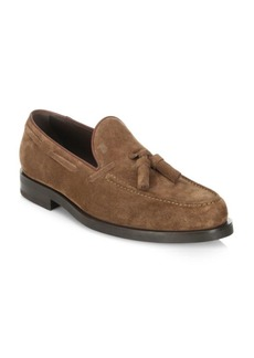 Tod's Tassel Suede Loafers