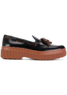 Tod's tasselled flatform loafers - Black