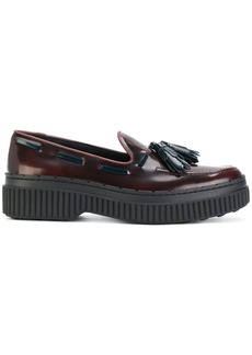Tod's tasselled flatform loafers - Red