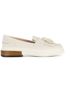 Tod's tasselled flatform loafers - White