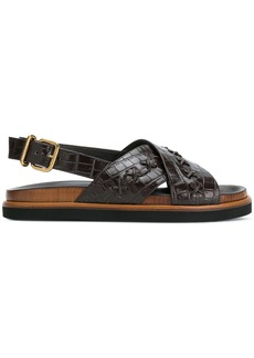 Tod's textured crossover sandals