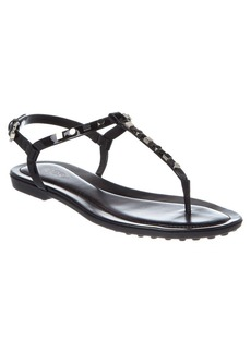 Tod's TOD's Studded Patent Thong Sandal