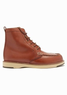 Tod's Topstitched leather ankle boots