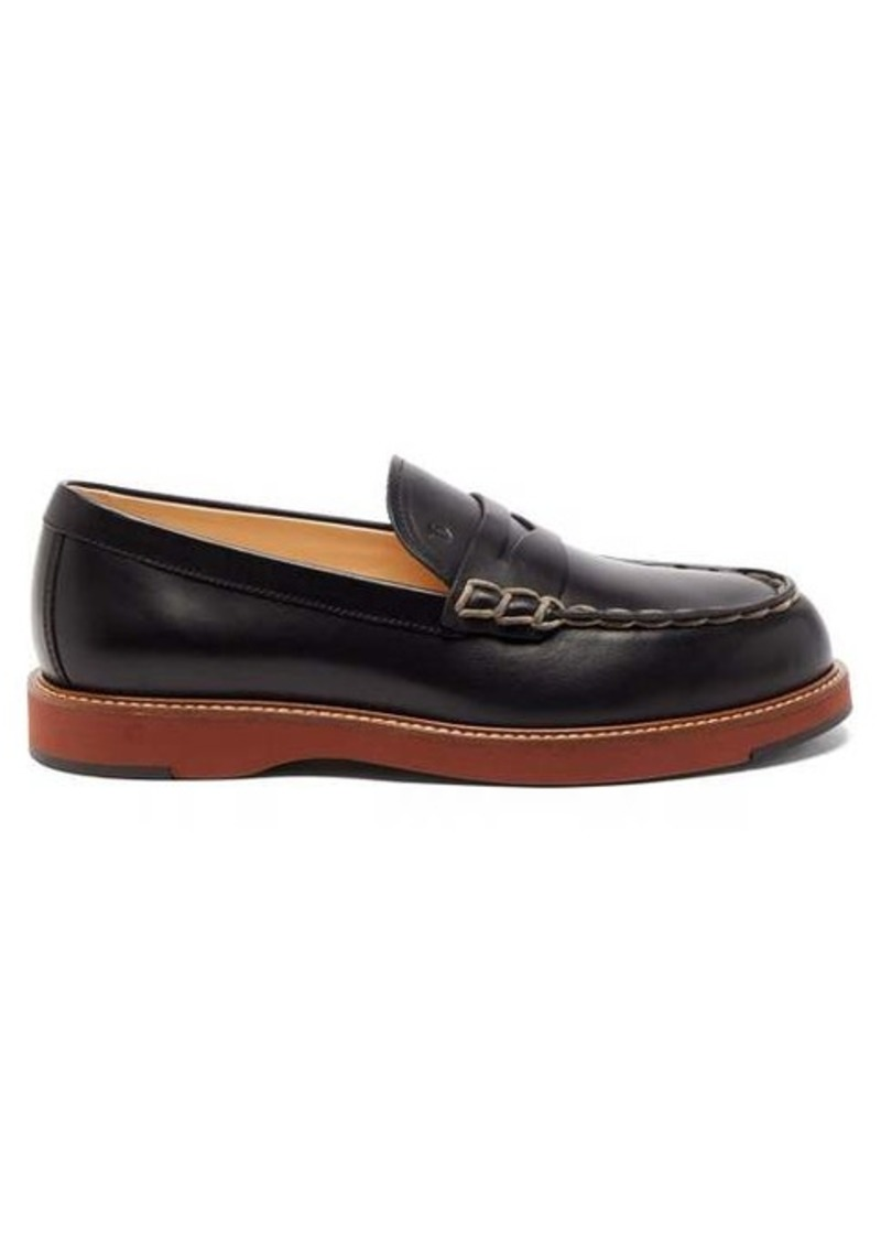 Tod's Topstitched leather loafers