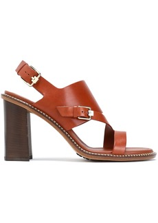 Tod's Woman Cutout Leather Sandals Light Brown