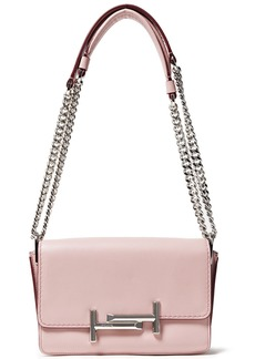 Tod's Woman Double T Mini Leather Shoulder Bag Pastel Pink