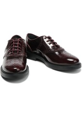 Tod's Woman Glossed-leather Brogues Merlot