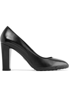 Tod's Woman Glossed-leather Pumps Black