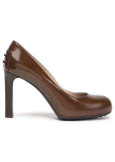 Tod's Woman Glossed-leather Pumps Dark Brown