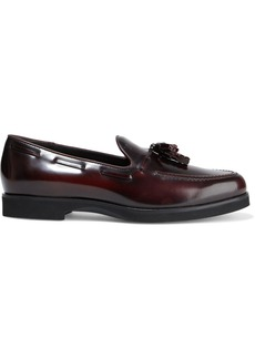 Tod's Woman Gomma Tasseled Glossed-leather Loafers Merlot