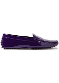 Tod's Woman Gommino Patent-leather Loafers Dark Purple