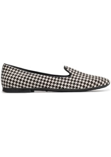 Tod's Woman Houndstooth Calf Hair Slippers White