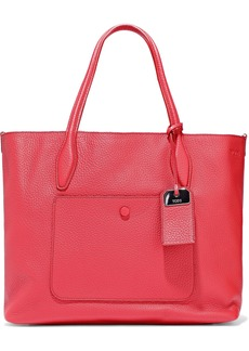 Tod's Woman Joy Reversible Pebbled-leather Tote Red